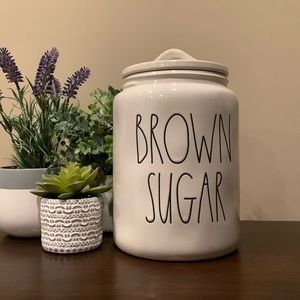 New HTF Rae Dunn BROWN SUGAR Canister 👩‍🍳